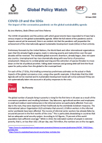 Cover COVID-19 and the SDGs: The impact of the coronavirus pandemic on the global sustainability agenda
