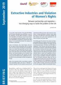 Cover Extractive Industries_Violation of Women's Rights