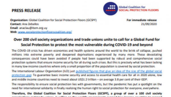 Call for social protection