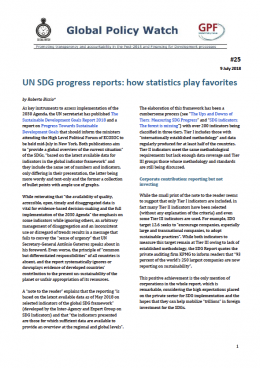 Cover UN SDG progress reports: how statistics play favorites