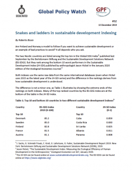 Cover Snakes and ladders in sustainable development indexing EN