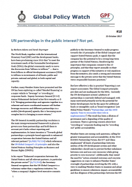 UN Partnerships in the Public Interest? Not yet.